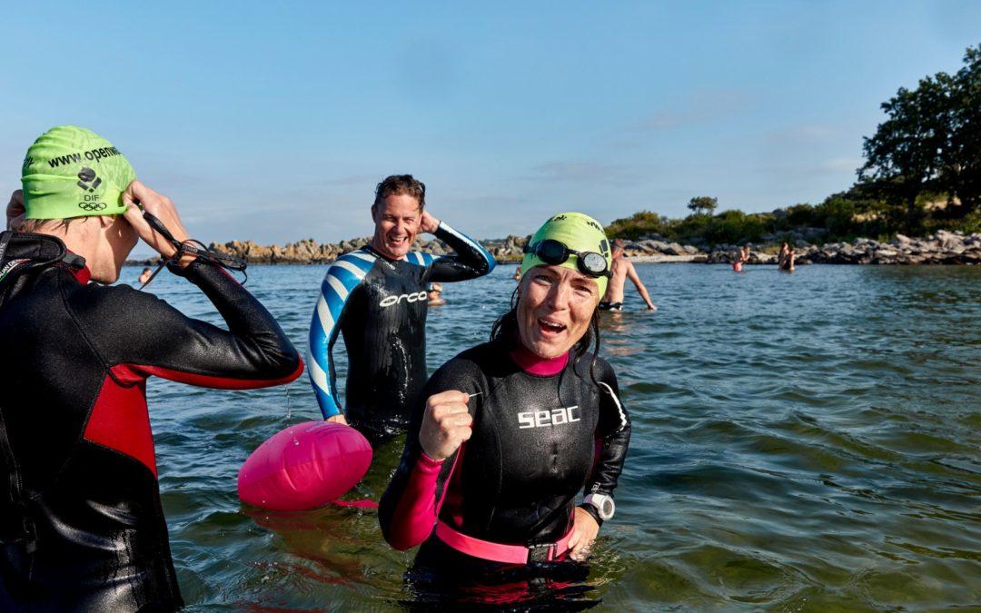 Åbent vand svømning i Fussingø Sø og Gudenaaen